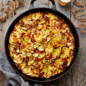 Yotam Ottolenghi's potato gratin with coconut, chilli and lime.