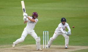 Tom Lammonby on his way to 116 on day four of the Bob Willis Trophy final at Lord's.