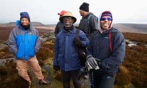 Top of the world … members of the black men's walking group.