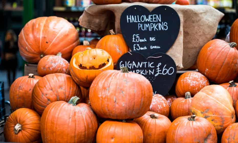 Halloween Pumpkin Display at Borough Market, London