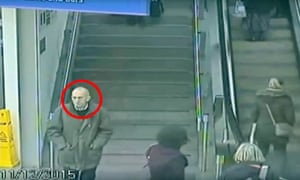 Detectives are still unable to identify this man, seen on CCTV footage in Manchester Piccadilly train station in December last year. His body was later discovered on Saddleworth Moor.