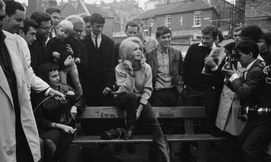Bardot on a visit to London in 1963. Photograph: Henri Bureau/Sygma/Corbis