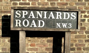 Spaniards Road, location of the highest peak in the 12 inner-London boroughs.