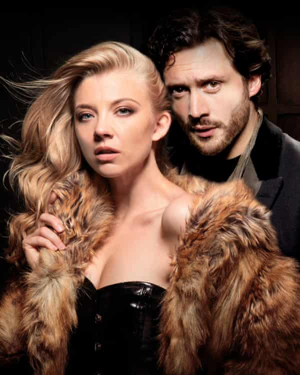 Natalie Dormer and David Oakes in a publicity shoot for Venus in Fur.