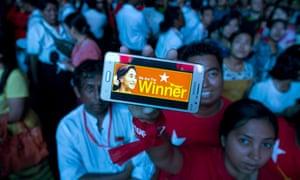 NLD supporter in Myanmar