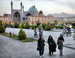 Bikes are everywhere in Isfahan - but women are banned from using the city's bike share scheme.