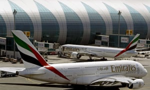 The Emirates airline was the subject of a complaint by a passenger about his overweight neighbour.