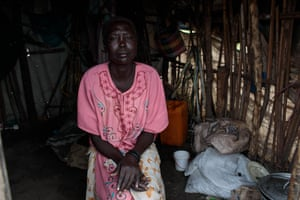Rose Juan has been living in St Mary's cemetery in Juba for the past five years