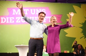The Greens' Ludwig Hartmann and Katharina Schulze