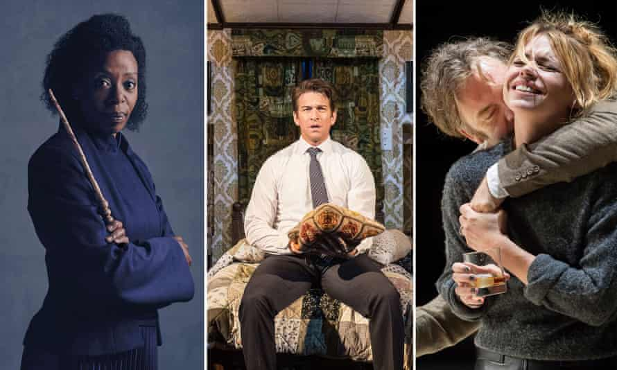 Noma Dumezweni as Hermione Granger in Harry Potter and the Cursed Child, Andy Karl as Phil Connors in Groundhog Day at the Old Vic,  and Billie Piper as Her in Yerma at the Young Vic