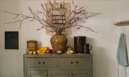Brown study: an old chest of drawers in the kitchen.