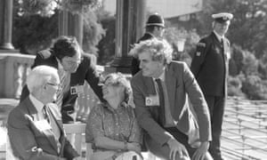 Lord Tordoff, left, with the SDP president Shirley Williams and leading Liberals Tim Clement-Jones and Adrian Slade at a Liberal assembly in Harrogate before the parties merged.