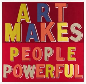 Art Makes People Powerful, 2019 (needlepoint wool on canvas) by Bob and Roberta Smith.