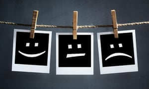 Happy, sad and neutral emoticons on instant print
