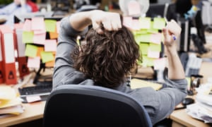 call centre employee looking stressed