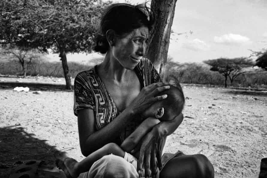 Antonia is an indigenous Wayúu mother. The Cercado Dam drained the Rancheria River, her communities only nearby source of water.