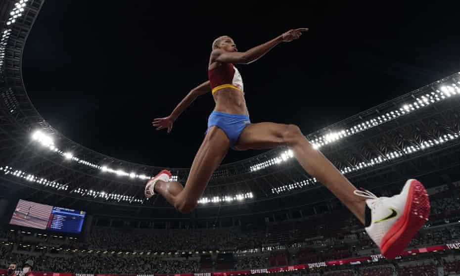Yulimar Rojas, of Venezuela in the triple jump.