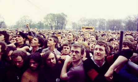 The 100,000-strong audience in 1978 in Victoria Park, east London, many of whom had marched from Trafalgar Square in support of Rock Against Racism, saw acts such as The Clash, Steel Pulse and X-Ray Spex.