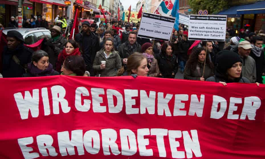 A rally in Berlin, in 2012, to commemorate the murder victims of the neo-Nazi group.