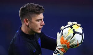 Nick Pope of England warms up prior to the international friendly match against Netherlands