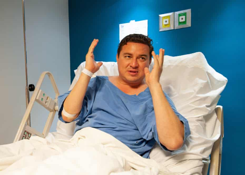The candidate of Fuerza por Mexico for mayor of Acapulco, Jose Alberto Alonso Gutierrez, speaks from the hospital where he is recovering, about the attack against him.