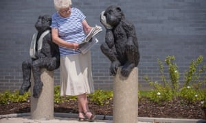 Laura Ford's bronze, life size animals outside Bristol's Southmead Hospital, known as 'Patient Patients'. The aim was to help people feel comforted and cheerful, according to Andrea Young, the chief executive of the North Bristol NHS Trust, which worked with arts consultancy Willis Newson on the project.