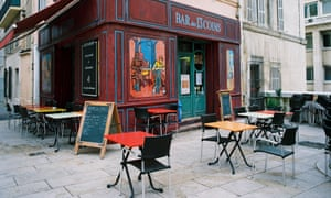 A bistro in the Quartier du Panier, Marseille