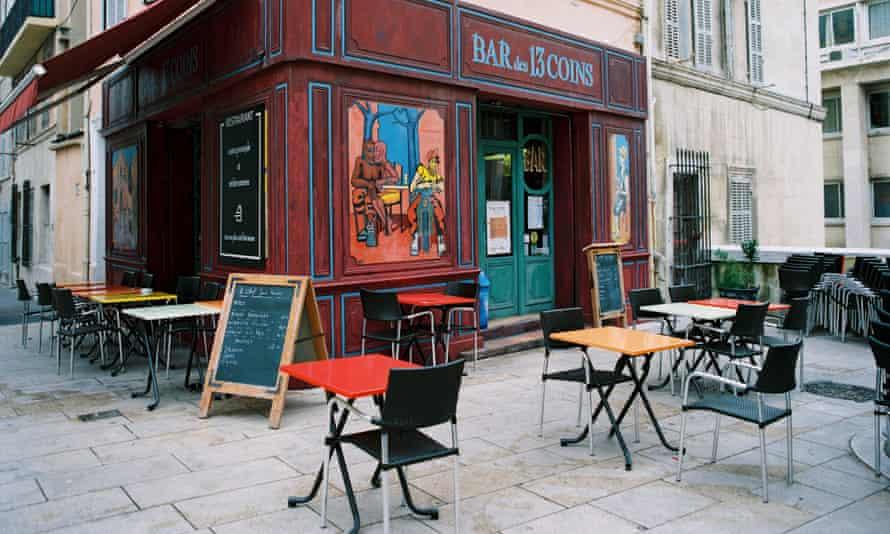 A bistro in the Quartier du Panier, Marseille