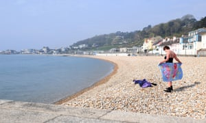 The beach at Lyme Regis.