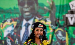 Grace Mugabe delivers a speech to the Zanu-PF youth rally earlier this month.