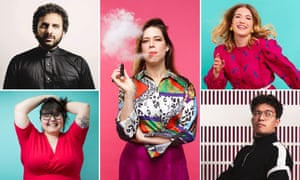'Your little comedy show couldn't matter less' ... clockwise from top left: Nish Kumar, Lou Sanders, Olga Koch, Phil Wang and Sofie Hagen.