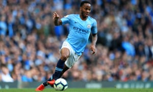Manchester City's Raheem Sterling may get a rare chance to play in the middle when they face Chelsea on Saturday evening.