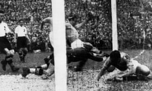 Ten minutes into their 1934 World Cup semi-final against Austria at the San Siro in Milan, Enrico Guaita bundles the ball home to score the only goal of the game.