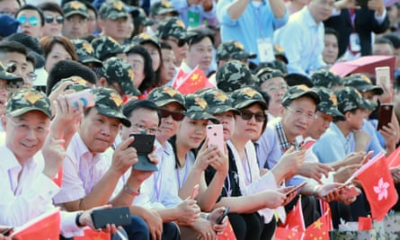 Spectators at the military parade.