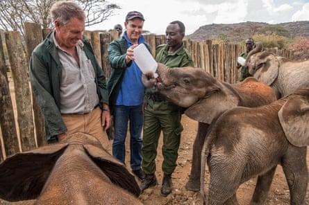 CITES Secretary-General, John E. Scanlon, met community members in Kenya
