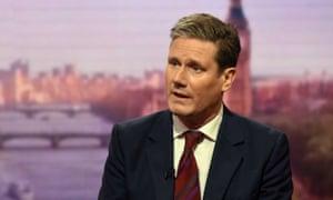 Shadow Brexit secretary Kier Starmer