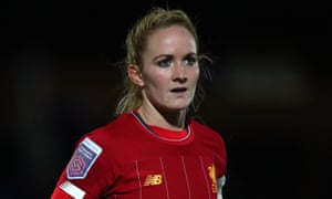 Sophie Bradley-Auckland playing for Liverpool against Chelsea in February 2020