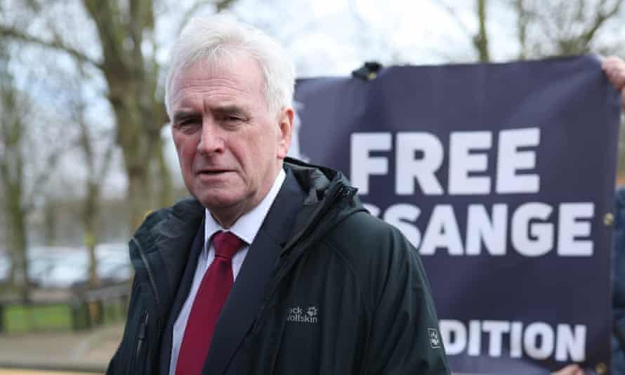 John McDonnell outside Belmarsh prison