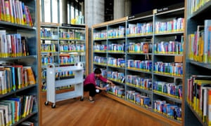 inside a public library.