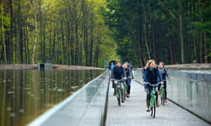 Cycling Through Water at the Bokrijk Open Air museum