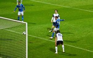 Brighton's Alexis Mac Allister scores their second goal.