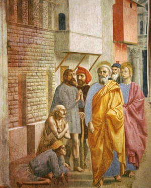St Peter Healing the Sick with His Shadow by Masaccio (1426-7).