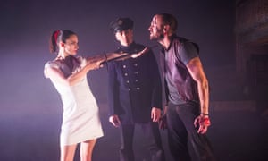 Eleanor Duval, Chris Akrill and Chris Tandy in The Odyssey.