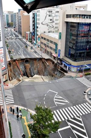 The sinkhole is 20m wide.