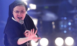 Sister Cristina Scuccia performs during the Italian version of The Voice in 2014