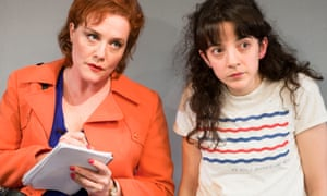 Charlotte Lucas as the Reporter and Patsy Ferran.