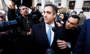 Michael Cohen leaves federal court in New York on 29 November.