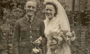 Betty Wray's younger sister Lilian on her wedding day in Stoke Newington in 1942