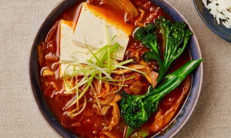Meera Sodha's vegan recipe for Tenderstem broccoli, tofu and kimchi stew