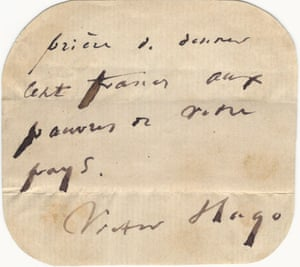 Champion of the poor ... Victor Hugo's note.